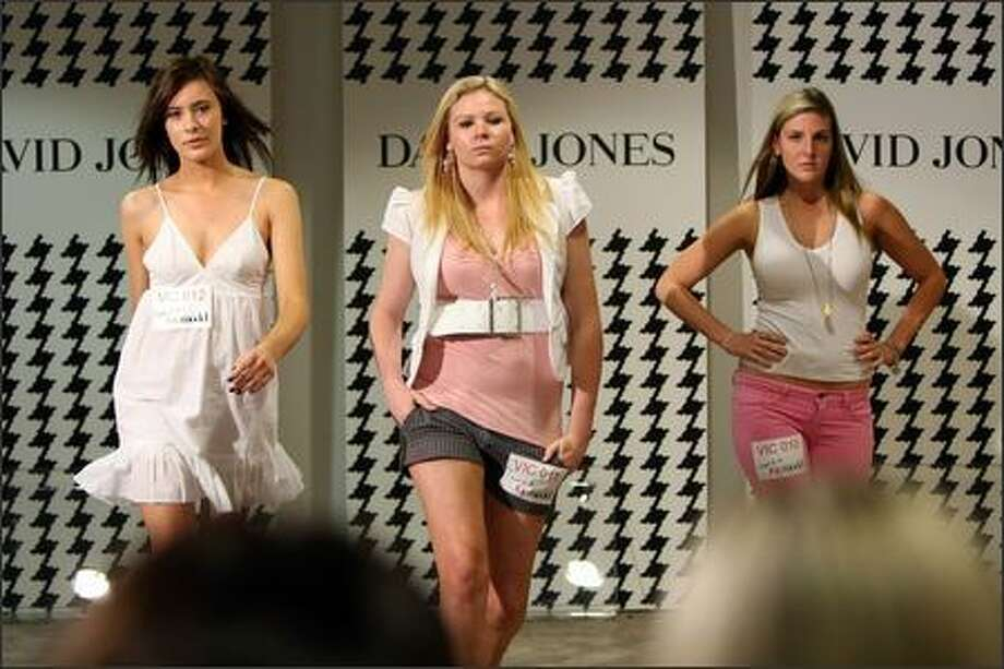 "Hopeful models audition during the Melbourne casting for series 4 of ""Australia's Next Top Model"" at David Jones on November 13, 2007 in Melbourne, Australia. Photo: Getty Images"