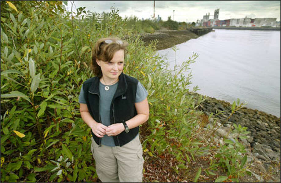 Joy West of People for Puget Sound, seen here at the Duwamish River, says the species act must be enhanced, not eliminated. Environmentalists fear Congress will weaken the law and undo years of protection. Photo: Paul Joseph Brown/Seattle Post-Intelligencer