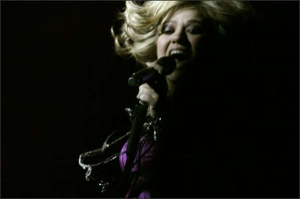 Kelly Clarkson's Seattle concert.