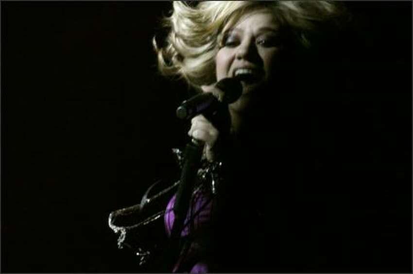 Kelly Clarkson's Seattle concert.
