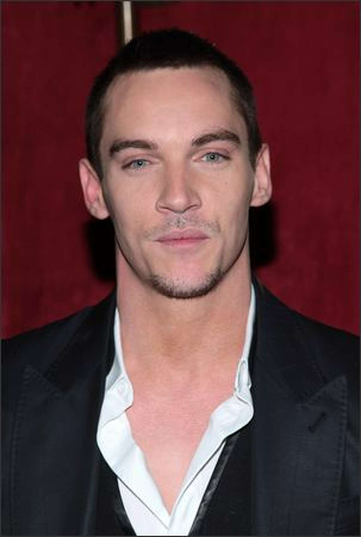 Actors Jonathan Rhys Meyers arrives at the premiere of Warner Bros. Pictures