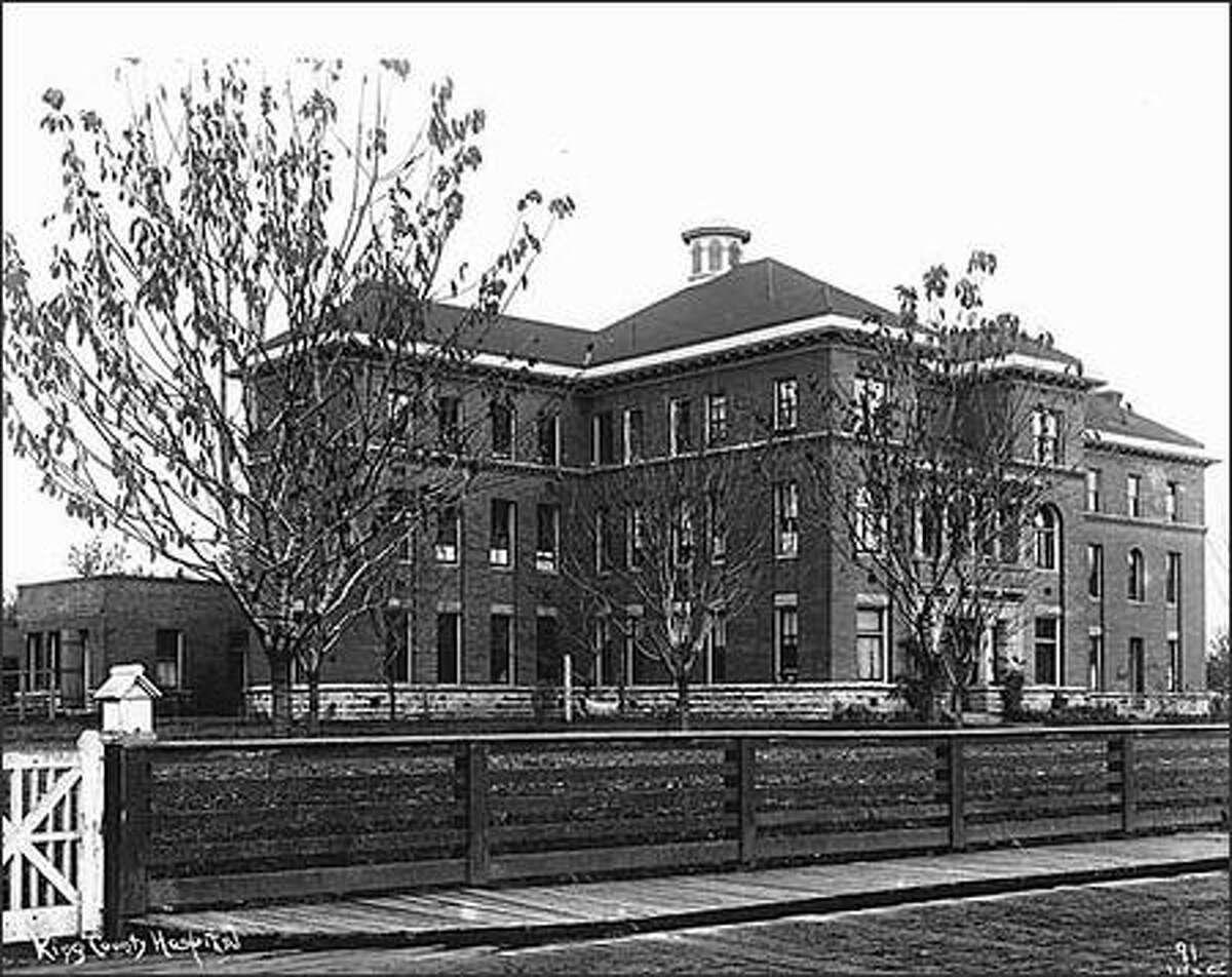 King County Hospital, Georgetown, ca. 1902. (Webster & Stevens)