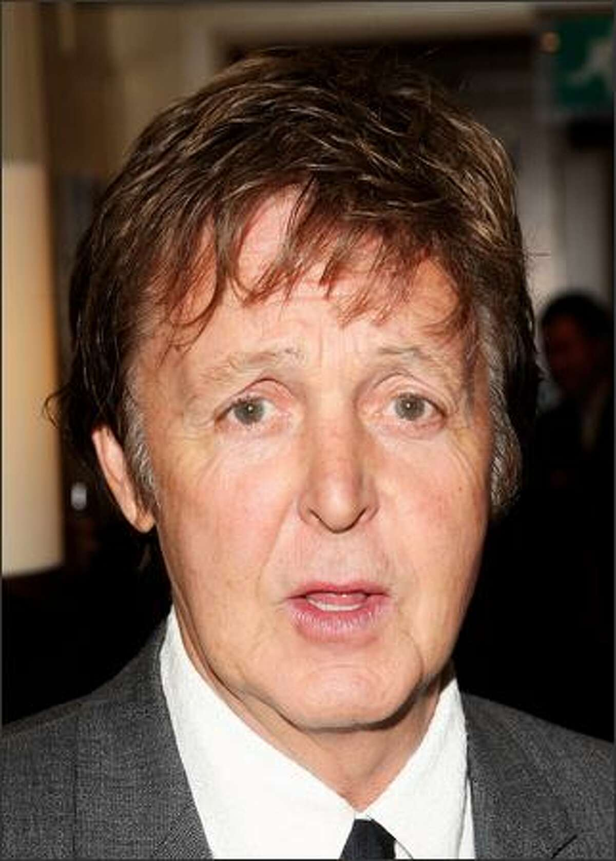 Sir Paul McCartney poses at the Grosvenor Hotel on October 8, 2007 in London, England.