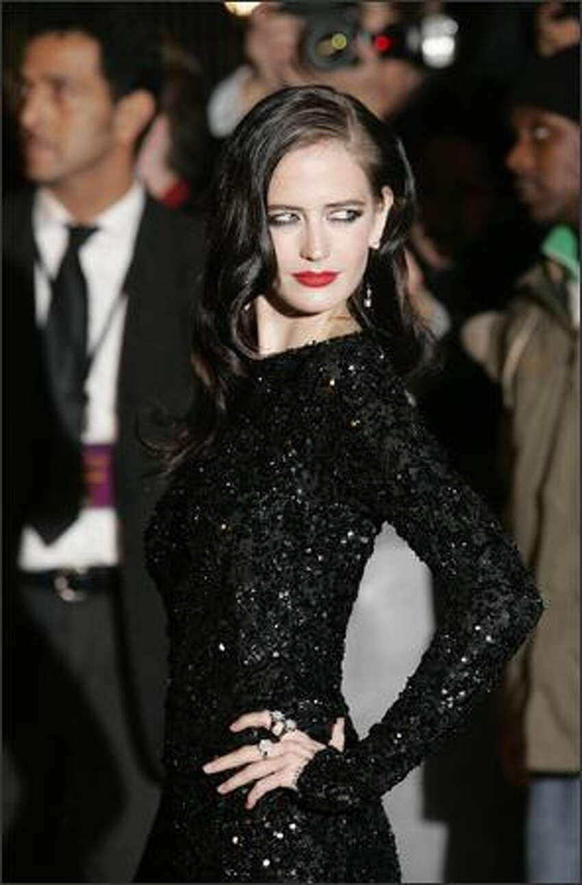 French actress Eva Green arrives for the world premiere of the film Golden Compass on Tuesday at London's Leicester Square Odeon cinema.