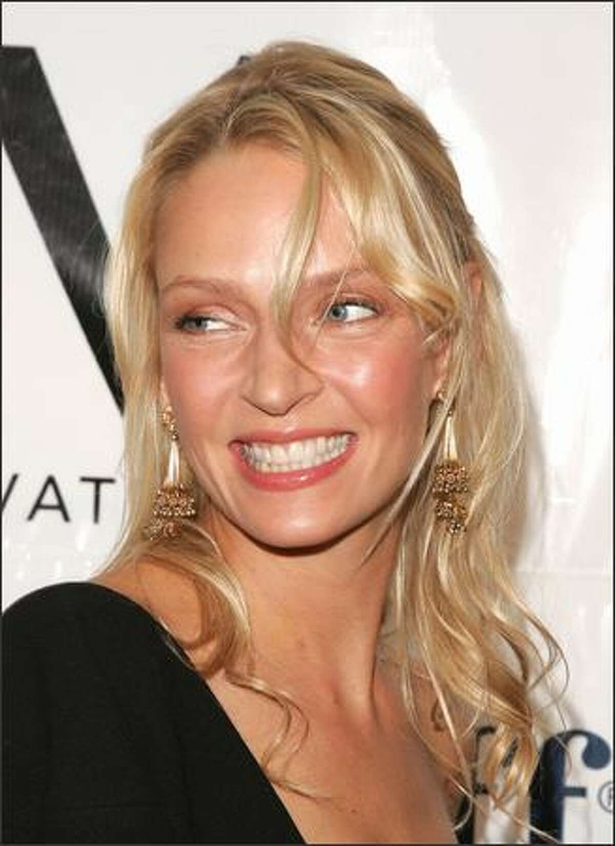 Actress Uma Thurman attends the