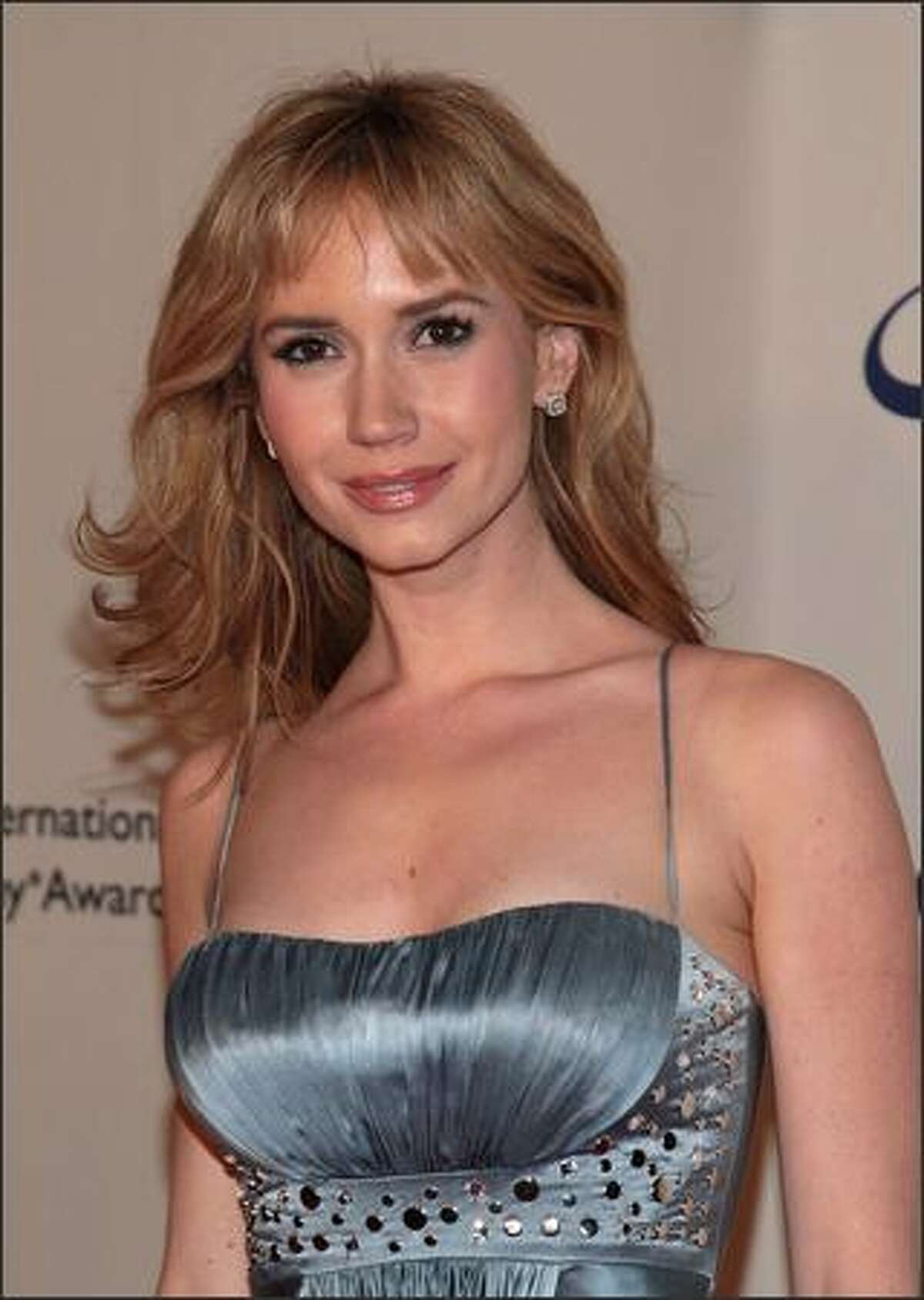Actress Ashley Jones attends the 35th International Emmy Awards Gala at the New York Hilton on Monday in New York City.