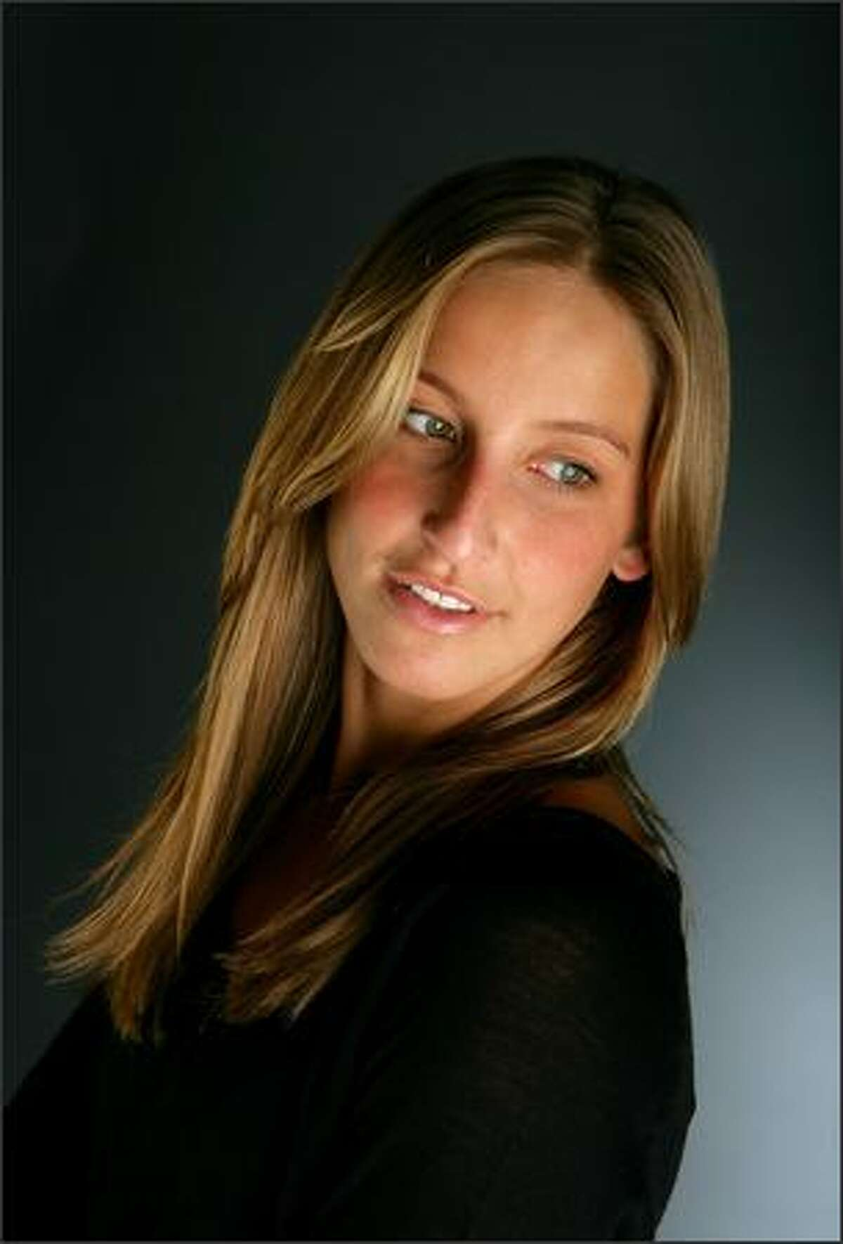 Swimmer Kim Vandenberg poses for a portrait prior to the USA Swimming Foundation's Golden Goggle Awards in Los Angeles.