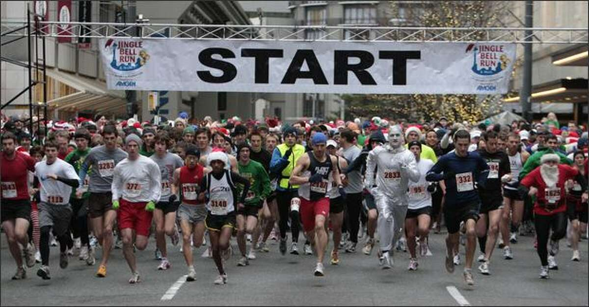 Over 11,000 runners and walkers participated in the 23rd Annual 5K Jingle Bell Run and Walk to benefit the Arthritis Foundation.