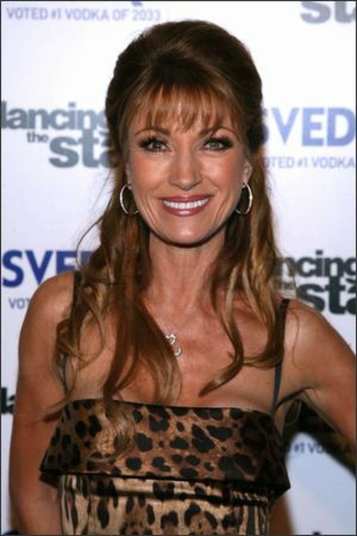 Actor Jane Seymour arrives at the 'Dancing With The Stars Finale' after party held on November 27, 2007 at The Day After club in Hollywood, Calif.