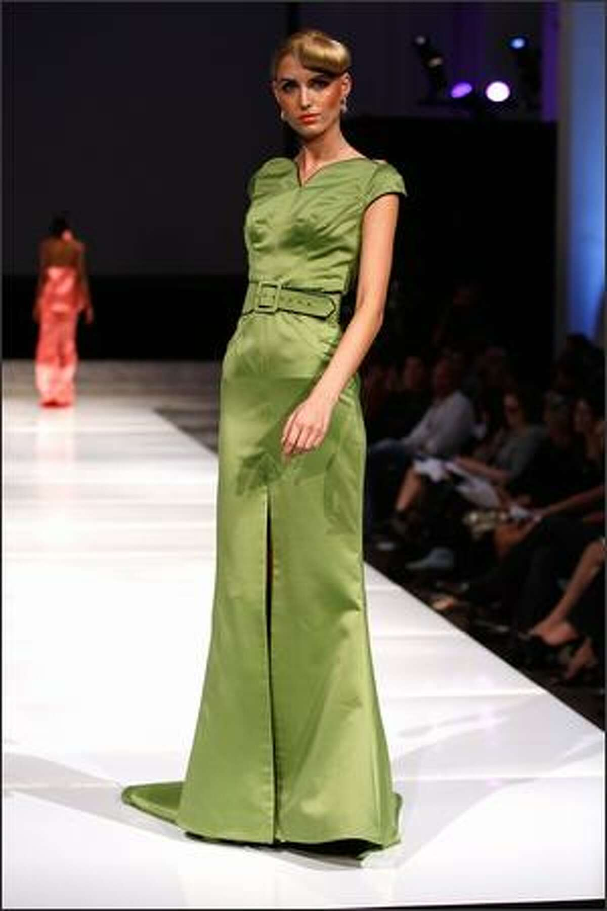 A model poses on the runway during the Louis Verdad 2008 Spring Collection during Box Eight's