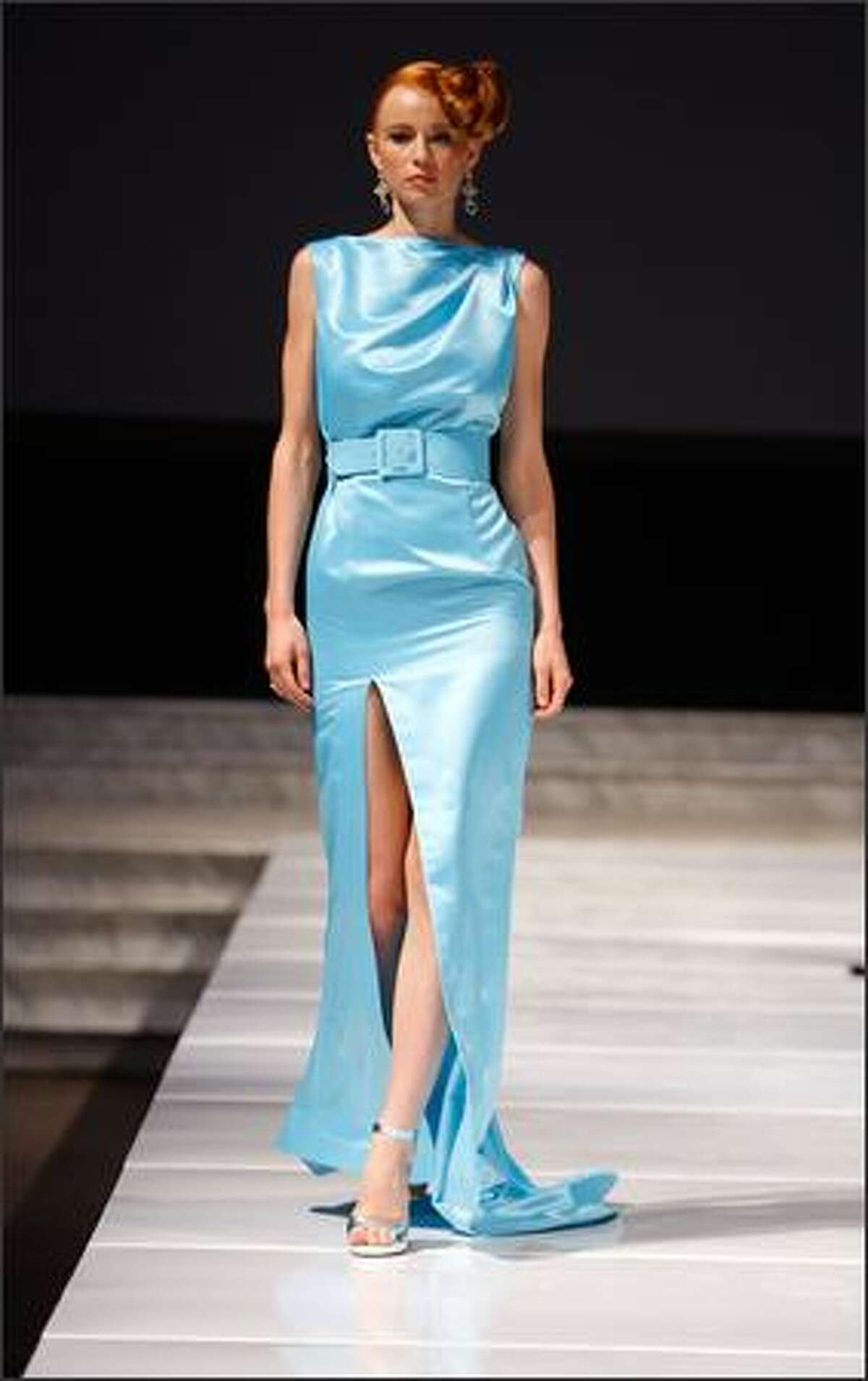 A model walks the runway during the Louis Verdad 2008 Spring Collection during Box Eight's