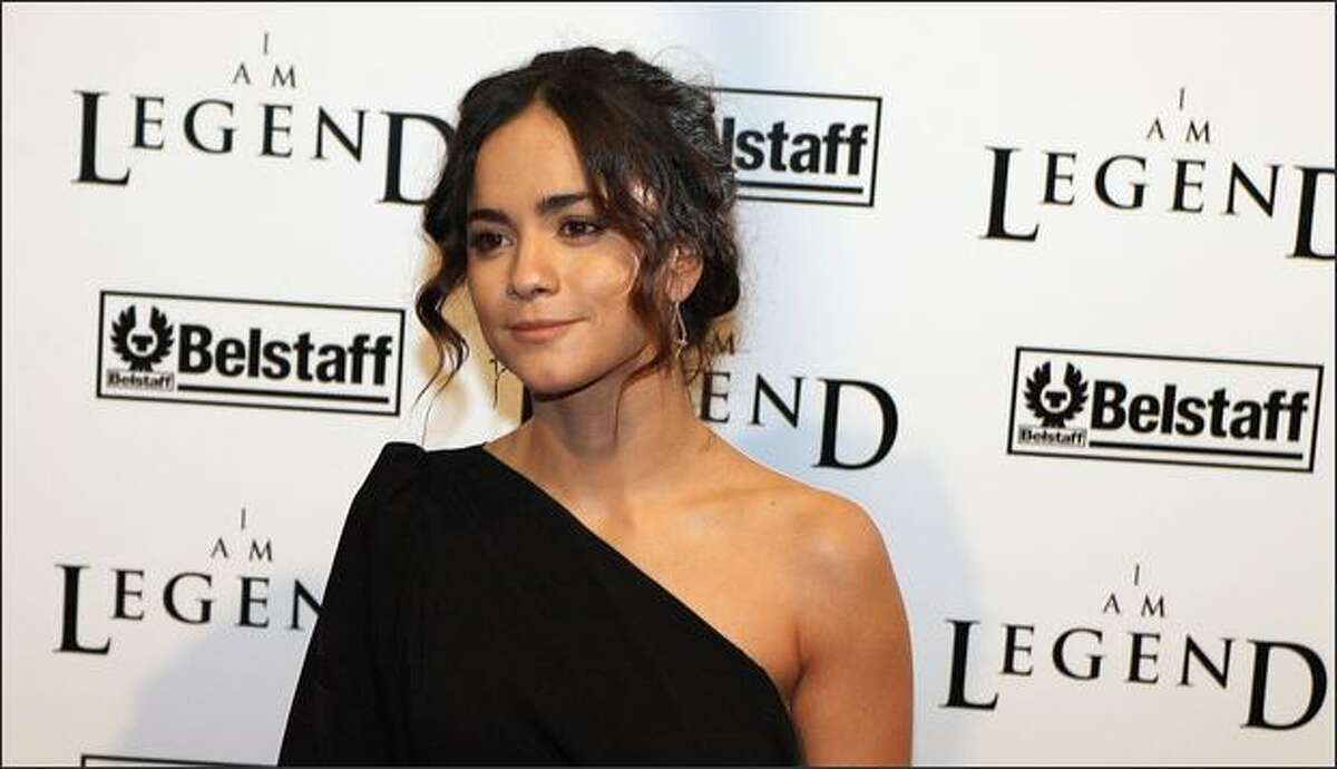 Alice Braga poses for a picture Tuesday at the premiere of