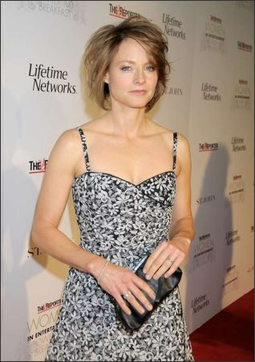 Jodie Foster arrives.