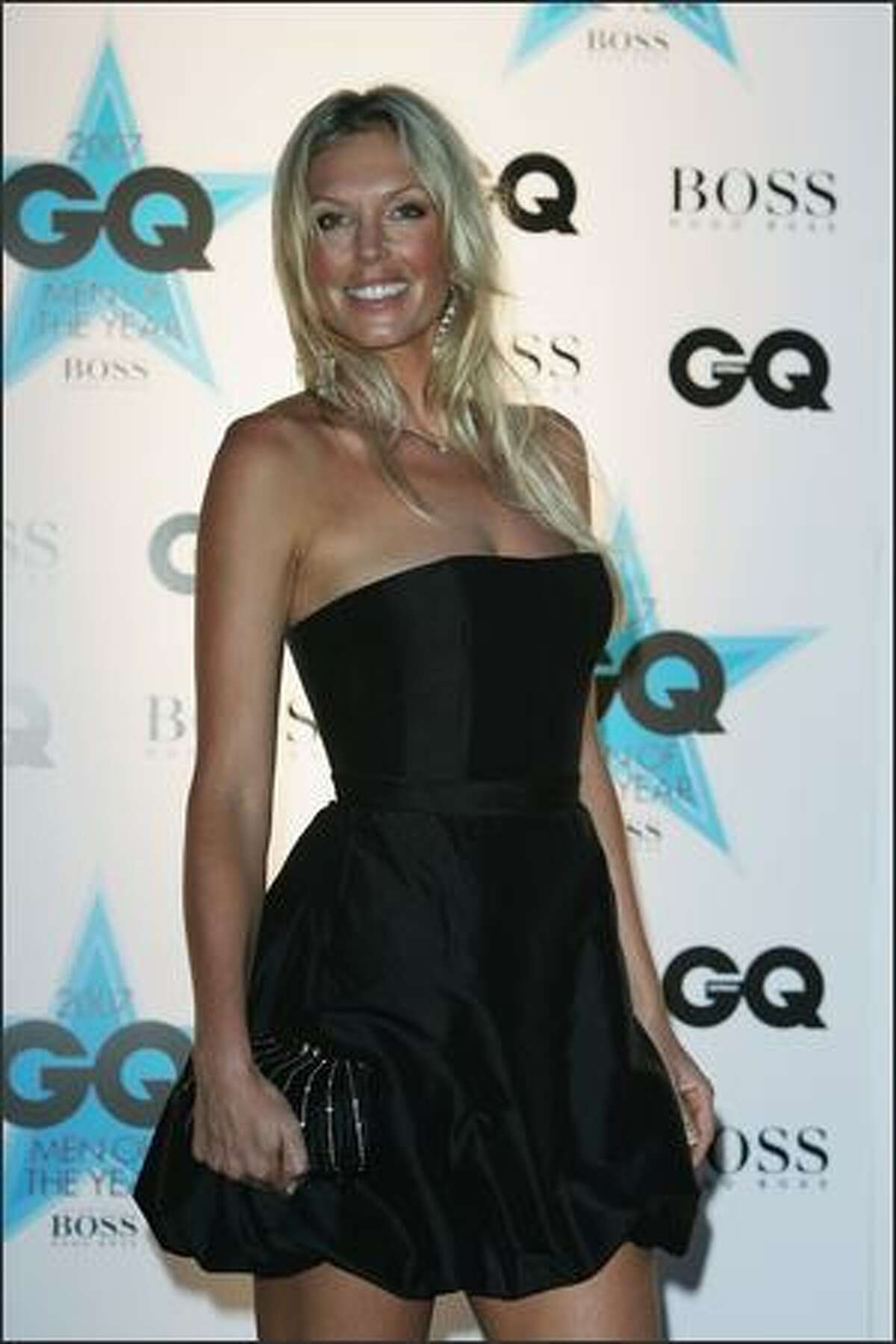 Annalise Braakinsiek and Danny Goldberg attend the GQ Men of the Year Awards at Fox Studios on Tuesday in Sydney, Australia.