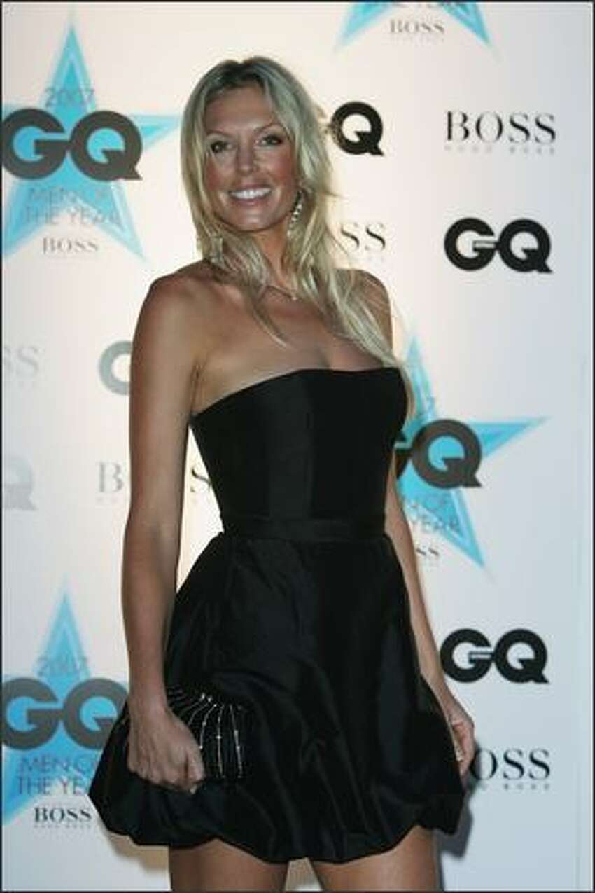 Annalise Braakinsiek and Danny Goldberg attend the GQ Men of the Year Awards at Fox Studios on Tuesday in Sydney, Australia.