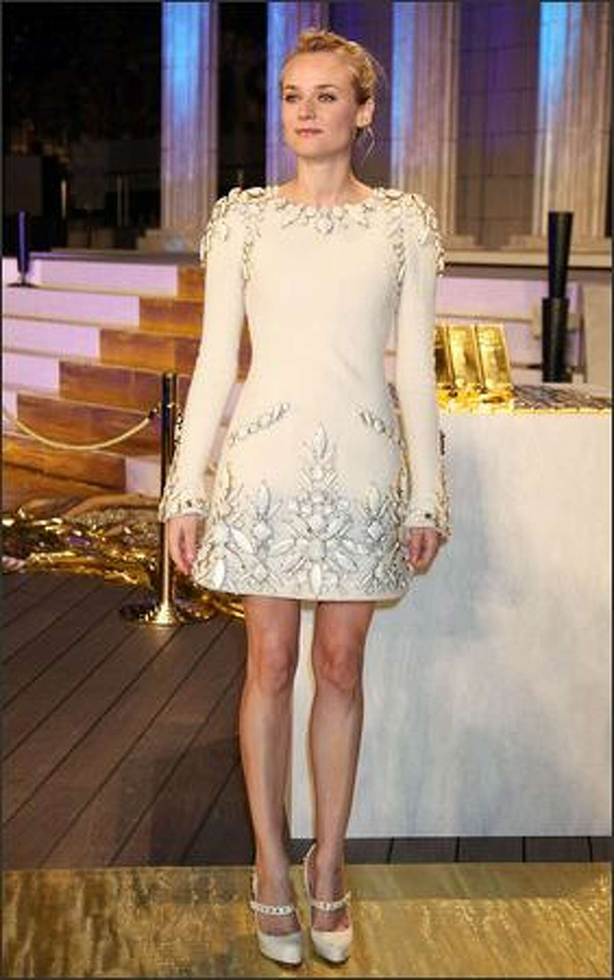 Actress Diane Kruger attends the Premiere for a film