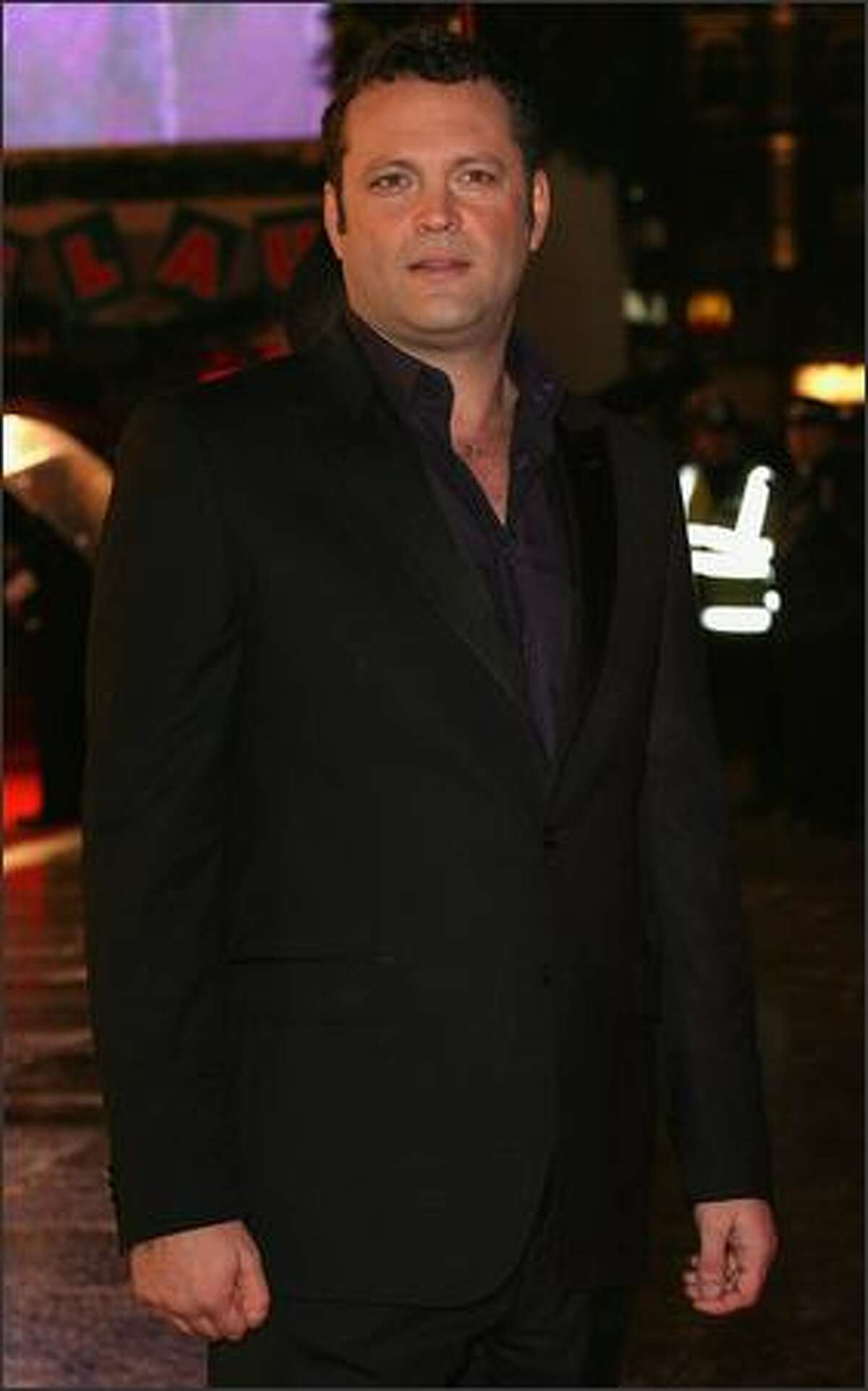 Vince Vaughn arrives at the European Premiere of Fred Claus at the Empire Leicester Square on Monday in London, England.