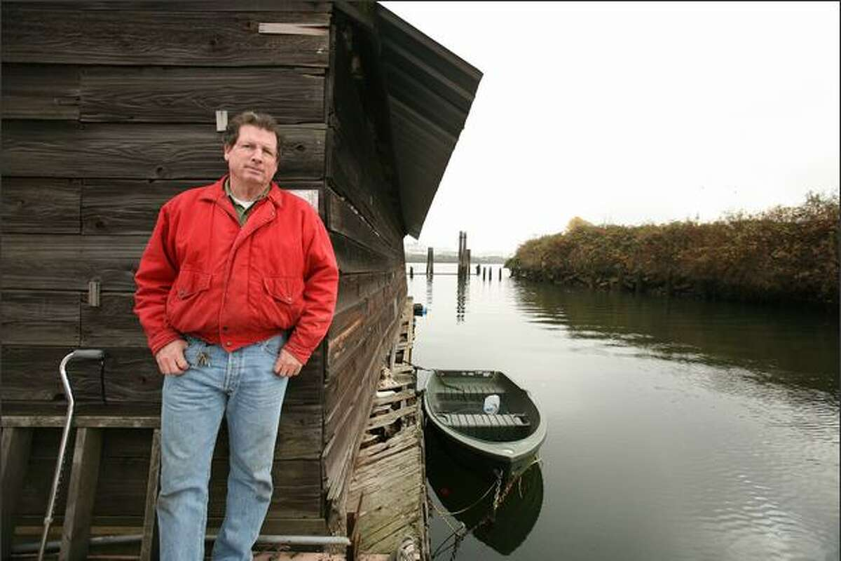 Guy Crow operates his family's South Park Marina just south of the South Park Bridge. His attempts to purchase adjacent property from the Port of Seattle have been frustrated by the discovery of high pollution levels.