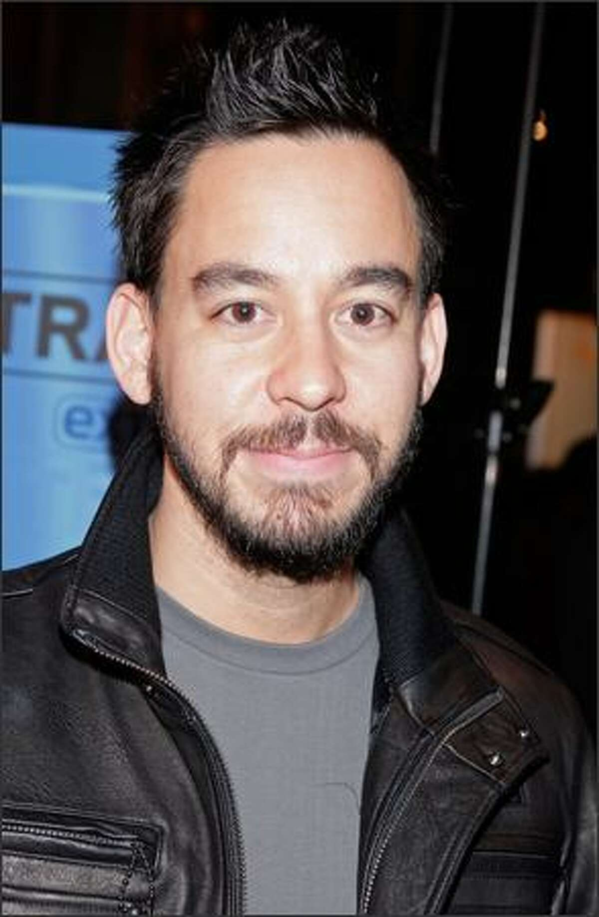Musician Mike Shinoda poses after the 50th annual Grammy Award Nominations held at the Henry Fonda Music Box Theatre on Thursday in Hollywood, Calif. The 50th annual Grammy Awards will air live on CBS Feb. 10, 2008.