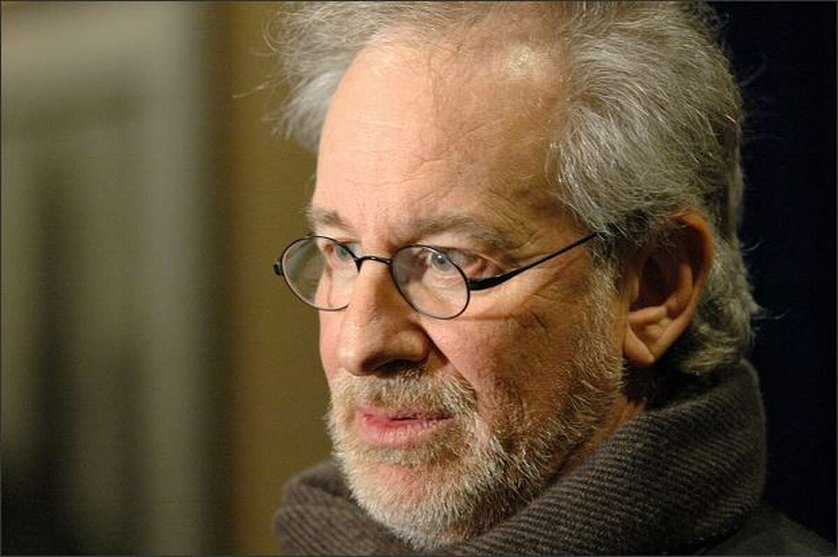 """Director Steven Spielberg is seen in New York in this Dec. 3, 2007 file photo. Spielberg is the recipient of the Cecil B. DeMille Award from the Golden Globes, given by the Hollywood Foreign Press Association """"for outstanding contributions to the world of entertainment."""""""