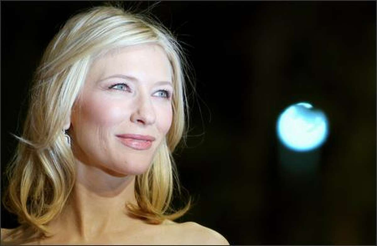 Austalian actress Cate Blanchett poses before the screening of