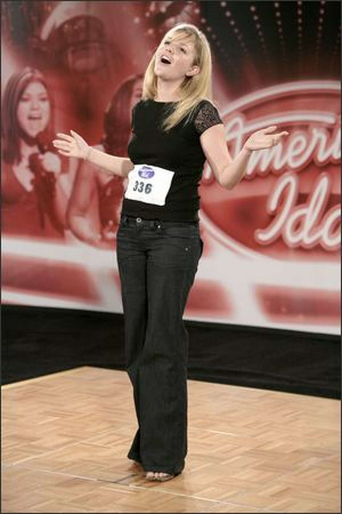 San Diego audition, July 30, 2007: Courtney Blooding, 27, of Encino, Calif.