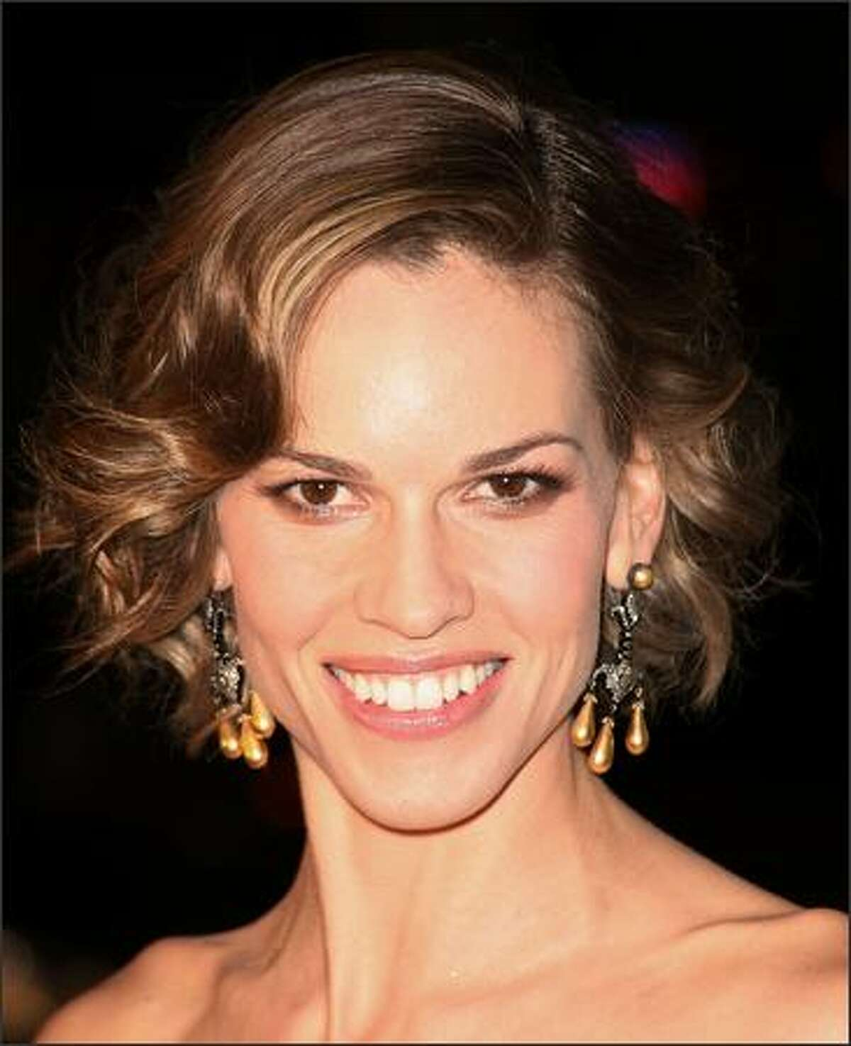 Actress Hilary Swank attends the Warner Bros.' film premiere of