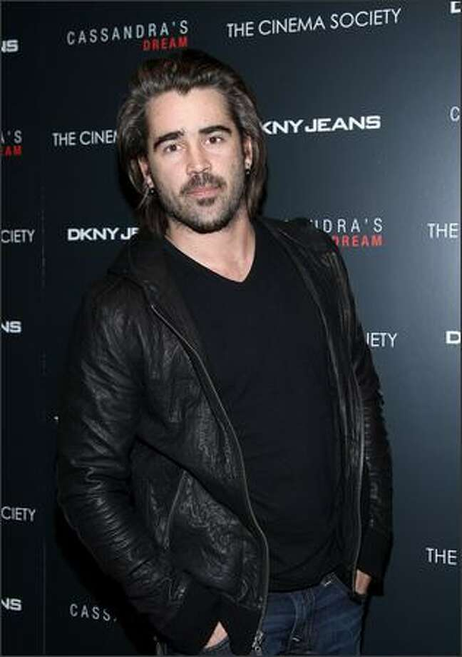 "Actor Colin Farrell attends the New York screening of ""Cassandra's Dream"" hosted by The Cinema Society and DKNY Jeans at the Tribeca Grand Screening Room on Tuesday in New York City. Photo: Getty Images"