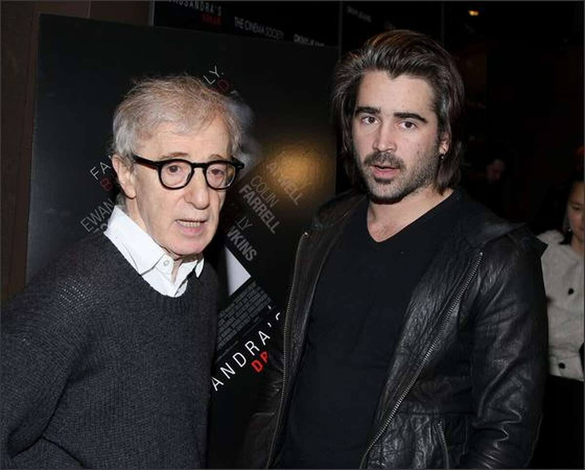 Writer/director Woody Allen and actor Colin Farrell attend the New York screening of