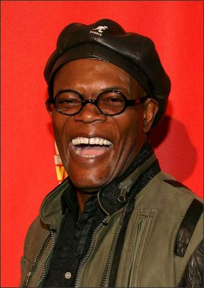 "Actor/host Samuel L. Jackson arrives at Spike TV's 2007 ""Video Game Awards"" at the Mandalay Bay Events Center in Las Vegas. The show was taped Friday and airs Sunday night at 9 p.m. Photo: Getty Images"