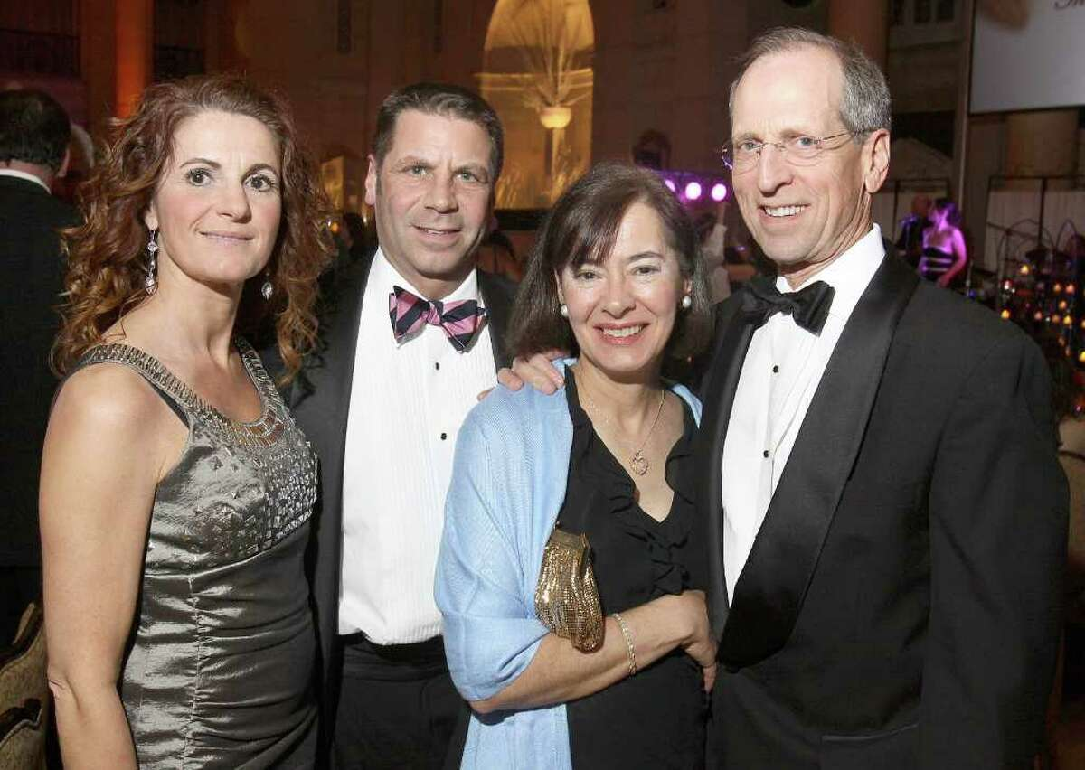 Left to right: Marie Semenza, St. Peter's Hospital Foundation Executive Director Peter Semenza, Rosemarie Boyle and St. Peter's Hospital Pesidant and CEO Steven Boyle during Hearts on Fire, the American Heart Association's 28th Annual Capital Region Heart Ball in Saratoga Springs, N.Y., on March 5, 2011. (Photo by Joe Putrock / Special to the Times Union)