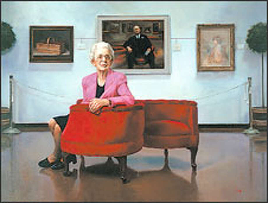 In 2004, the Frye Art Museum purchased Del Gish's portrait of Ida Kay Greathouse. The oil is 36 by 48 inches. Photo: PHOTO COURTESY OF THE FRYE ART MUSEUM