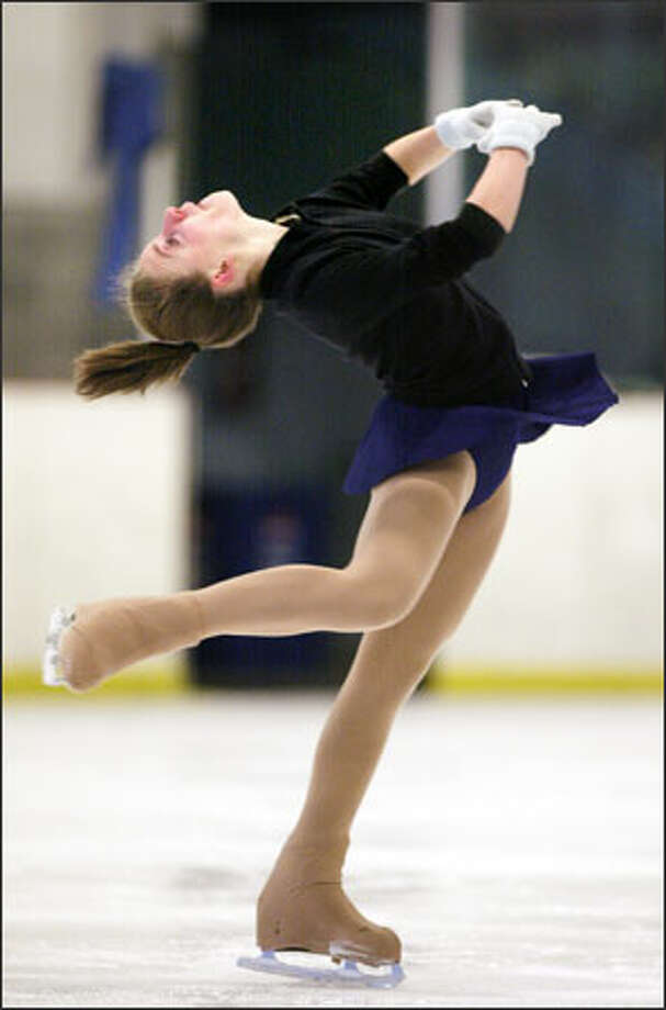 Highland Skating Club's Chrissy Hughes, a Liberty High sophomore, will compete for the novice ladies title at the U.S. figure skating nationals, starting Feb. 8 in St. Louis. Photo: Dan DeLong/Seattle Post-Intelligencer