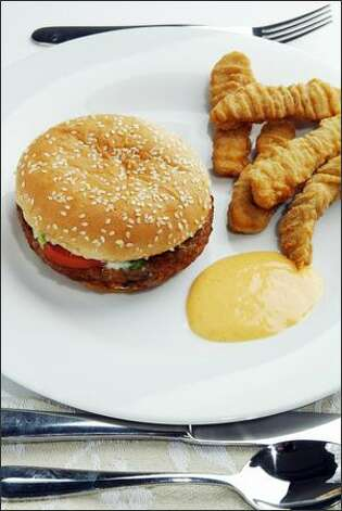 Burger King's veggie burger and Chicken Tenders. Photo: Paul Joseph Brown/Seattle Post-Intelligencer