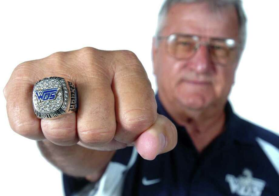 West Orange-Stark's head coach Dan Hooks shows off his championship ring. His teams won state championships in 1986 and 1987. Enterprise file photo Photo: File / Beaumont