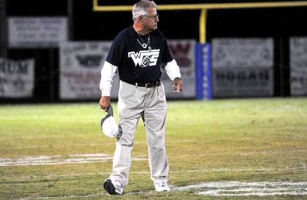 Coach Dan R. Hooks shows his frustration with the game agianst Kirbyville at West Orange-Stark High School in West Orange, Saturday. Tammy McKinley/The Enterprise Photo: TAMMY MCKINLEY, MBR / Beaumont