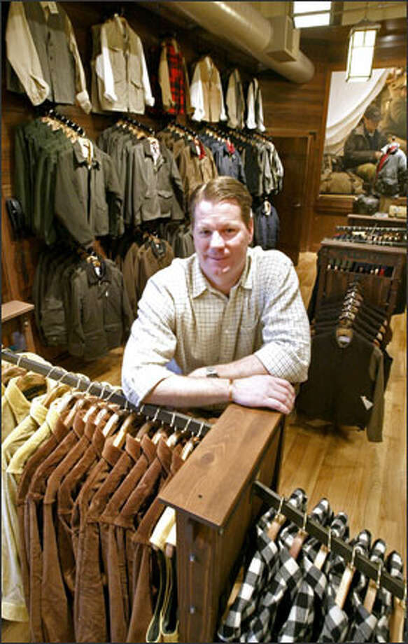 Doug Williams,  seen in C.C. Filson's Seattle store, was hired as chief executive of the company after it was sold last January to private-equity firm Brentwood Associates in Los Angeles. Photo: Dan DeLong/Seattle Post-Intelligencer