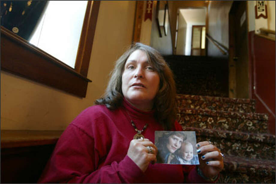 "Lori Farmer killed her son, Zane, in 1995. As she faces life after the psychiatric hospital, a friend comforts her: ""You're not the same person now."" Photo: Scott Eklund/Seattle Post-Intelligencer / Seattle Post-Intelligencer"