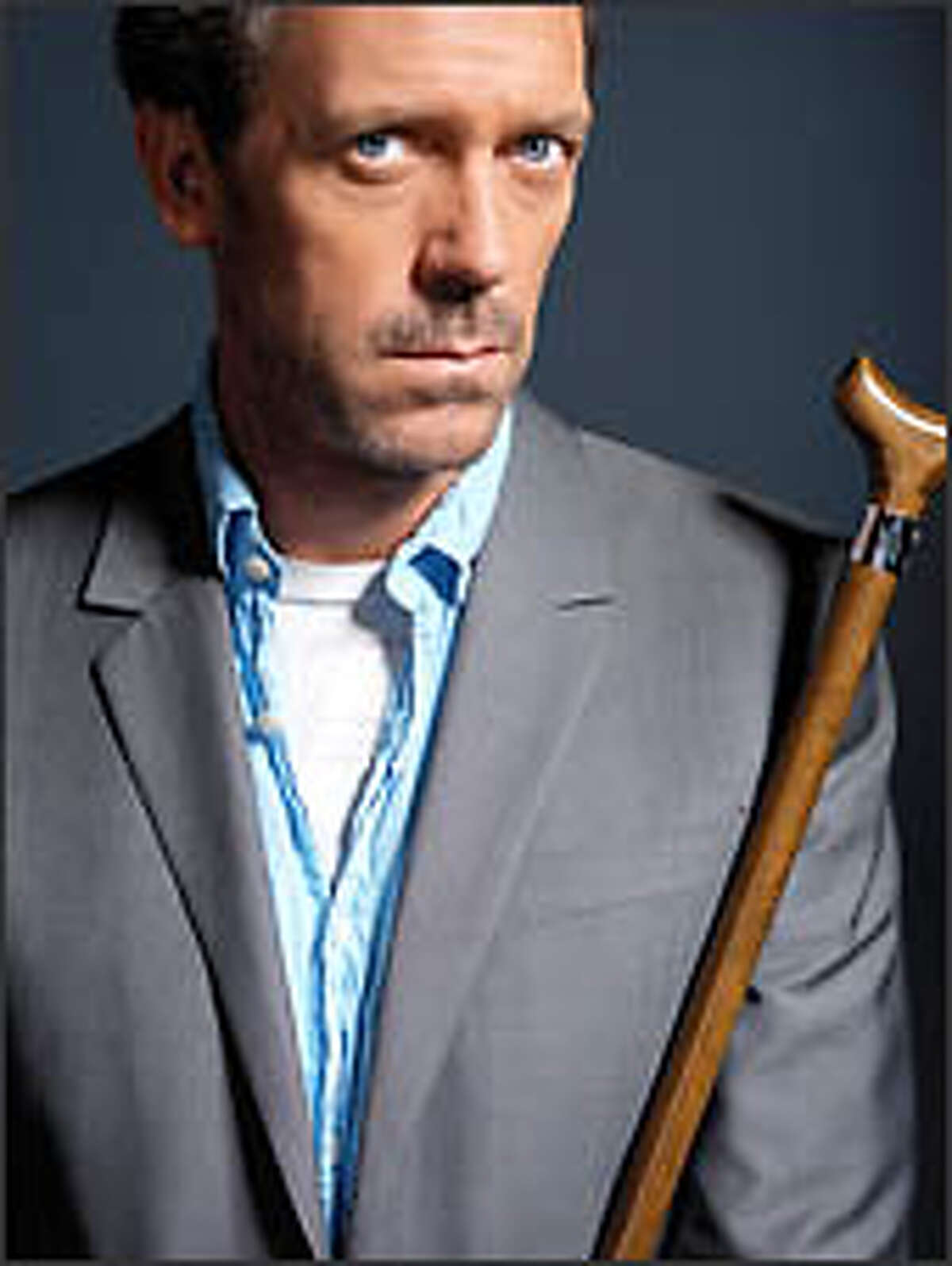 """Hugh Laurie of """"House"""" rejects the sex-symbol label. """"I'm playing a sexy character; I am not a sexy person,"""" he says."""