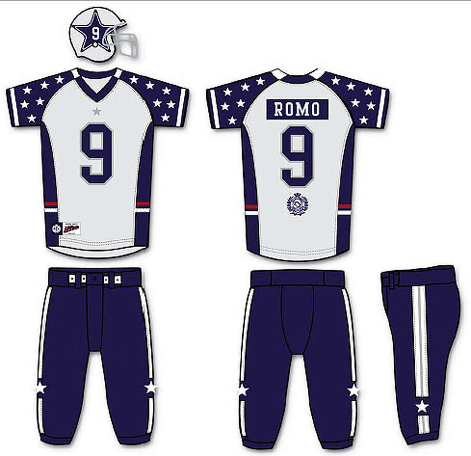 Tommy Hilfiger redesigns the Dallas Cowboys uniform for ESPN The Magazine. COURTESY ESPN THE MAGAZINE