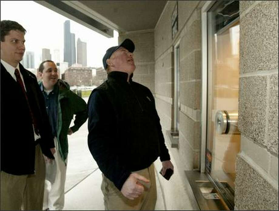 Season-ticket holder Shawn Leuckel of Seattle is disappointed to find at Qwest Field that he wasn't chosen in the lottery for Super Bowl tickets. Photo: Dan DeLong/Seattle Post-Intelligencer