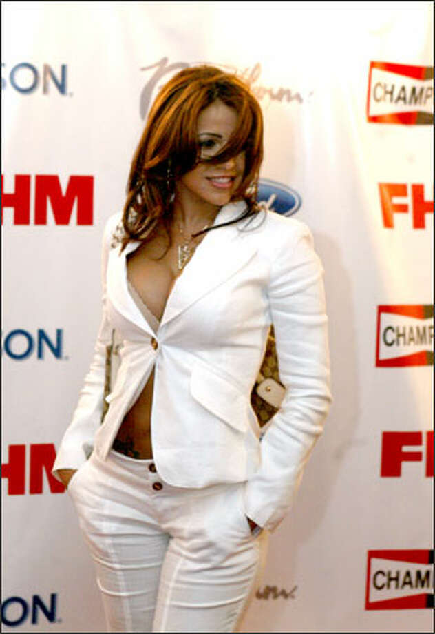 FHM cover girl Vida Guerra was one of the party's hosts. Photo: Scott Eklund/Seattle Post-Intelligencer / Seattle Post-Intelligencer