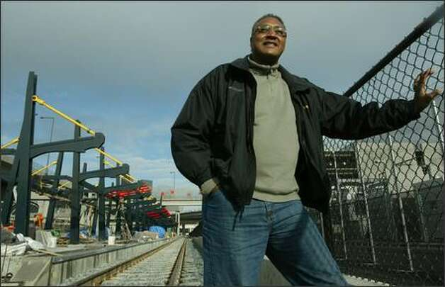 Fred Anderson, who played for the Seahawks and Steelers in the late 1970s and early '80s, now owns Leajak Construction of Mountlake Terrace, which has the contract to build Sound Transit's SoDo station. Photo: Paul Joseph Brown/Seattle Post-Intelligencer