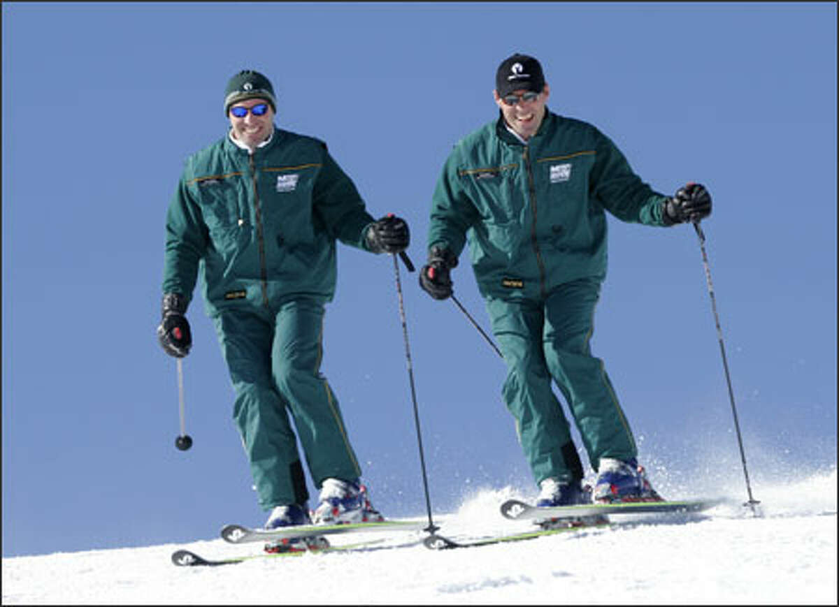 Steve, left, and Phil Mahre run the Mahre Training Center in Deer Valley, Utah. Phil, who won three straight World Cup titles, is also an accomplished race-car driver.