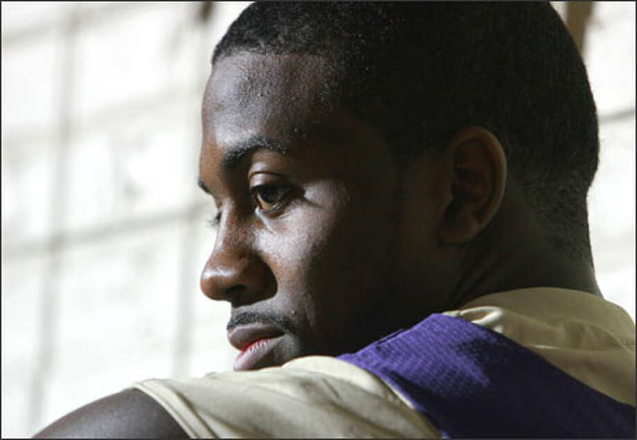 Justin Dentmon's route to Washington began in poverty in Carbondale, Ill., and then, with the help of supporters, through Winchendon prep school in Massachusetts. Photo: Meryl Schenker/Seattle Post-Intelligencer