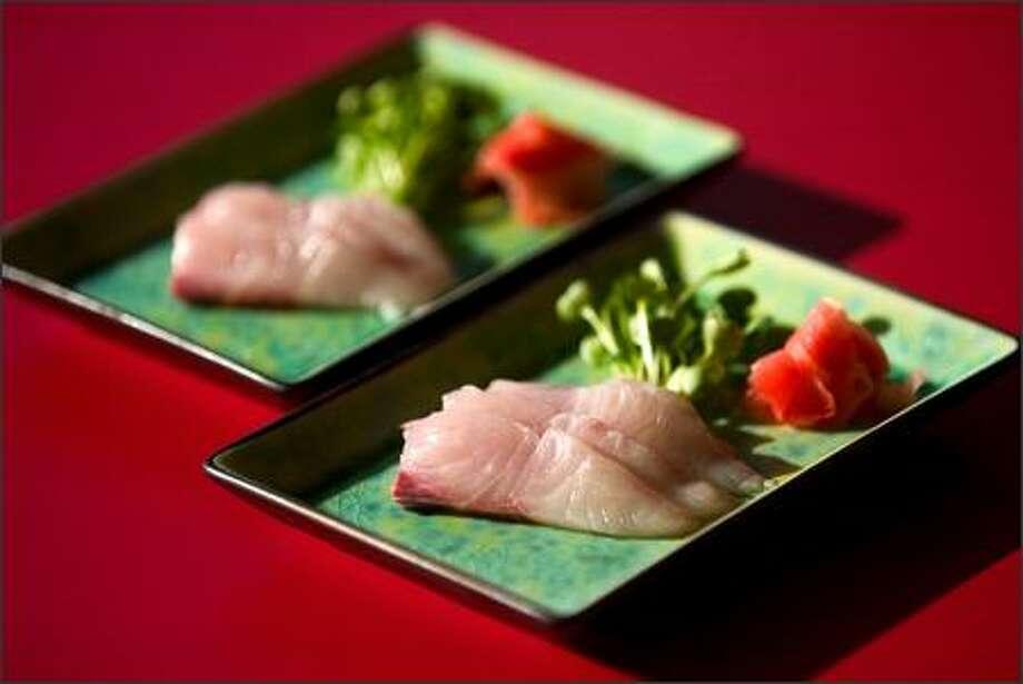 Chefs are so enamored with Kona Kampachi they prefer to serve it as sashimi. Photo: Joshua Trujillo/Seattle Post-Intelligencer