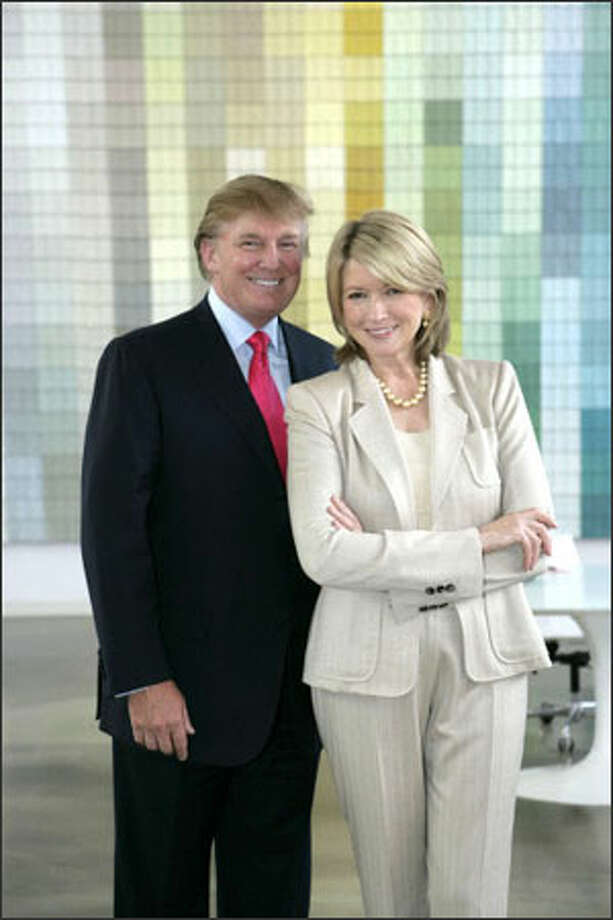 Donald Trump and Martha Stewart are on the outs after trading barbs his week Photo: /NBC