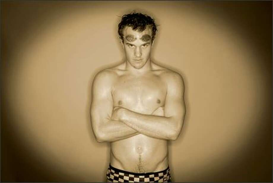 Trent Huxley of Bellevue, the boys swimming MVP. Photo: Dan DeLong/Seattle Post-Intelligencer