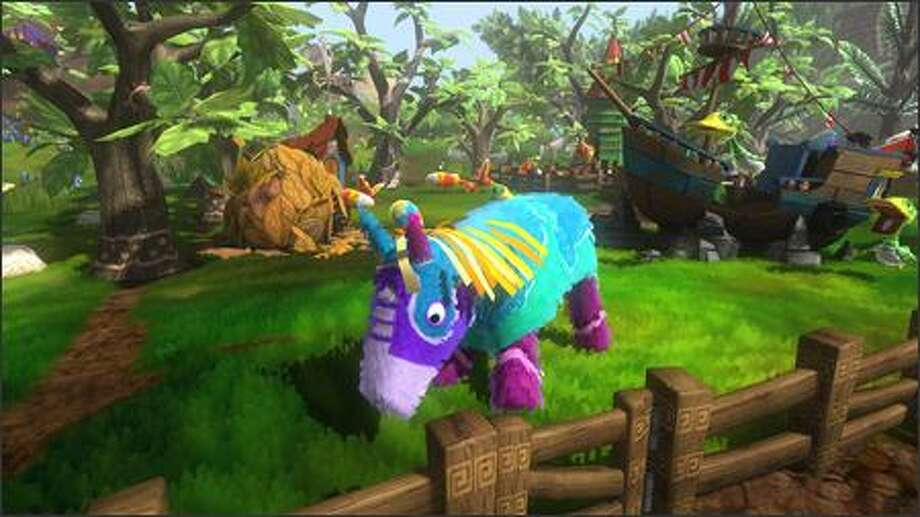"Microsoft plans to release the ""Viva Piñata"" video game by the holiday shopping season. The cartoon is set to begin this fall. Photo: MICROSOFT"