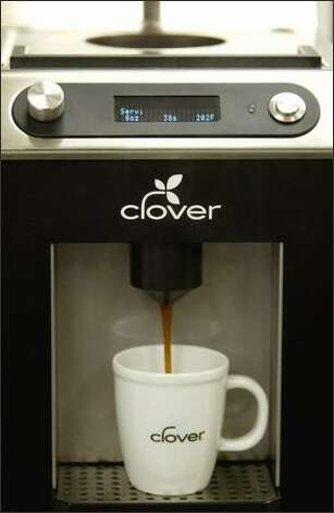A Clover coffee maker brews a cup of drip at The Coffee Equipment Co. Photo: Joshua Trujillo/Seattle Post-Intelligencer